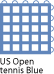 US Open tennis Blue