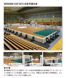 壁有サッカー(仮設フェンス、スポーツコート)