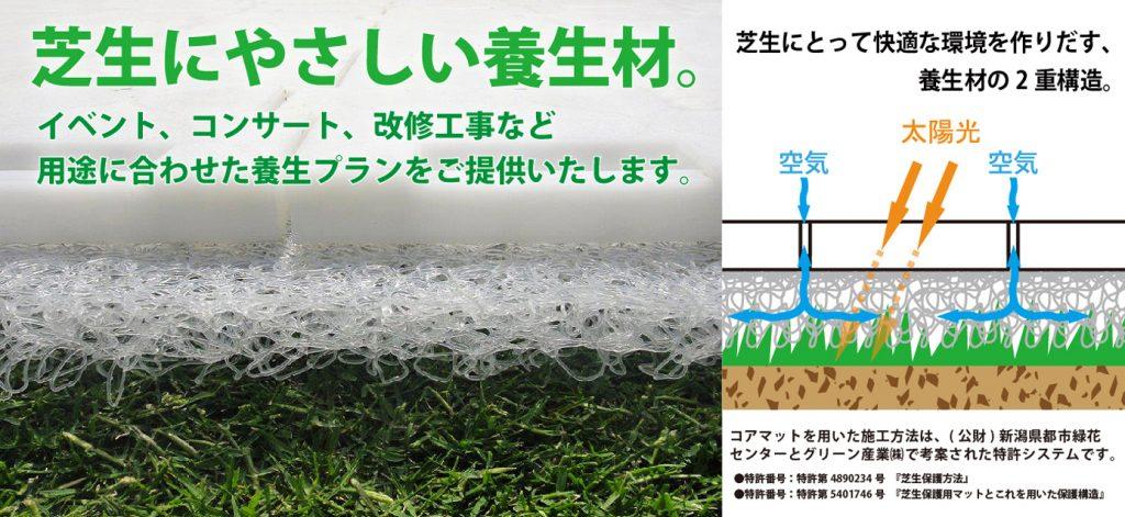 イベントに最適。芝生の養生材・保護材
